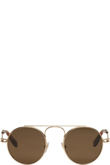 Givenchy - Gold Round Sunglasses