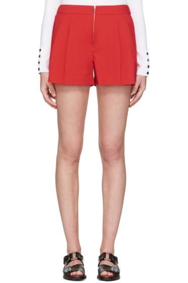 3.1 Phillip Lim - Red Twill Bloomer Shorts