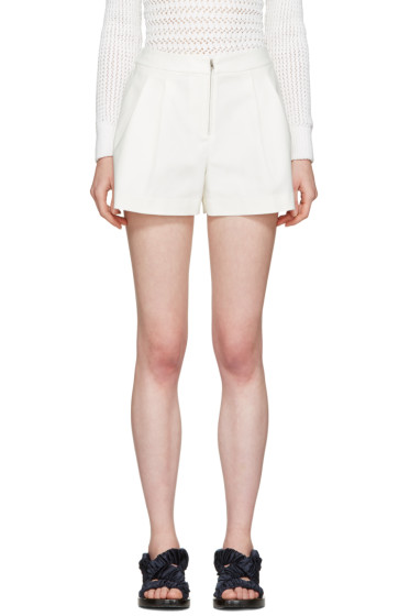 3.1 Phillip Lim - White Tailored Bloomer Shorts