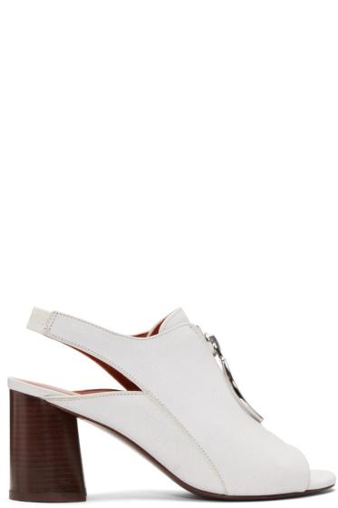 3.1 Phillip Lim - White Drum Sandals