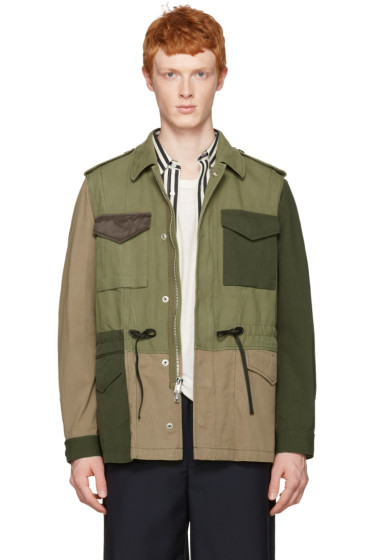 3.1 Phillip Lim - Green Patchwork Field Jacket