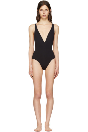 Proenza Schouler - Black Cross-Back Swimsuit