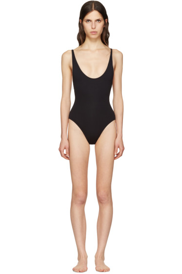 Proenza Schouler - Black Lace-Back Swimsuit