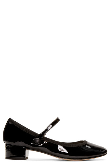Repetto - Black Rose Ballerina Heels