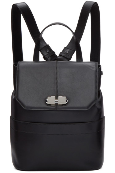 Carven - Black Two Ways Clasp Backpack