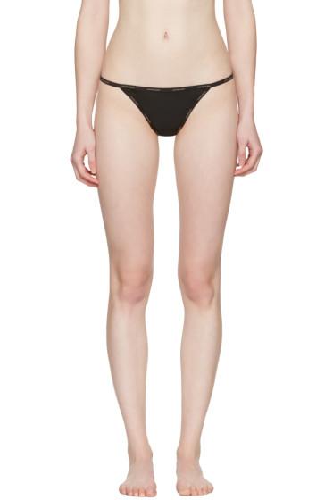 Calvin Klein Underwear - ブラック メッシュ ストリング ソング