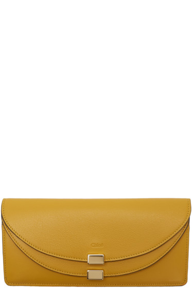 Chloé - Portefeuille jaune Long Georgia