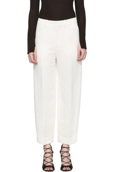 Chloé - Ivory Cuffed Trousers