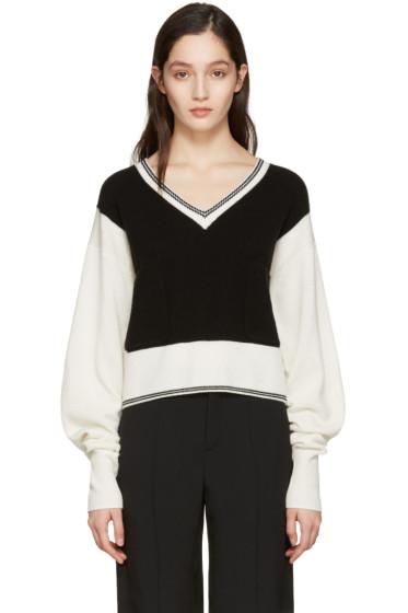 Chloé - Black Cashmere Varsity Sweater