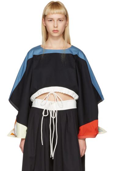 Chloé - T-shirt à cordon coulissant noir