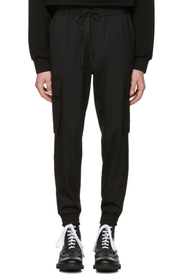 Juun.J - Black Drawstring Cargo Trousers