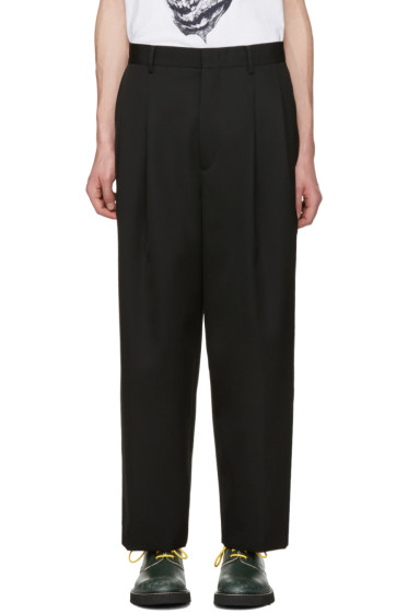 Juun.J - Black Pleated Trousers