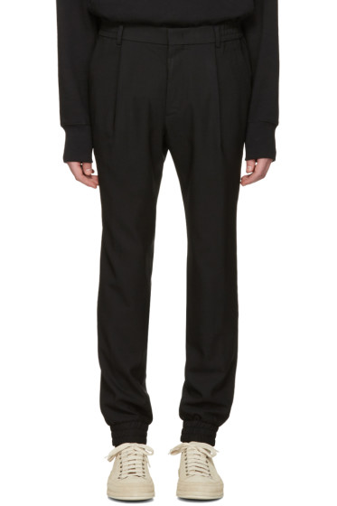 Juun.J - Black Cuff Trousers