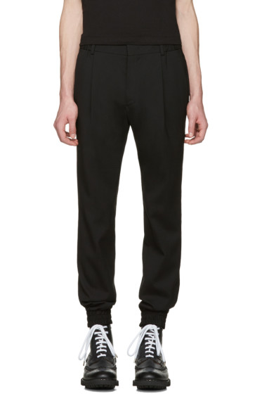 Juun.J - Black Slim Cuff Trousers
