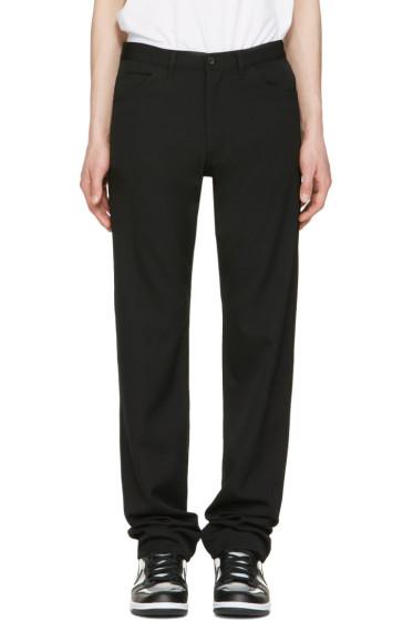 Comme des Garçons Homme Plus - Black Wool Gabardine Jeans