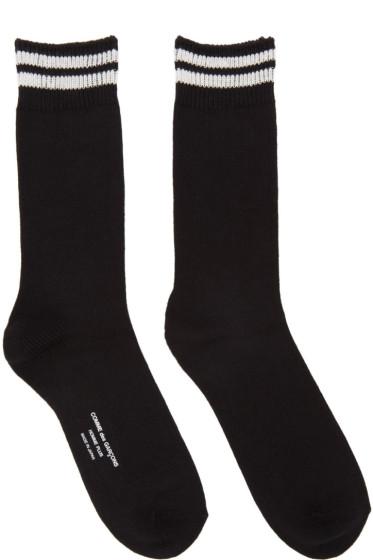 Comme des Garçons Homme Plus - Black Double Stripe Socks