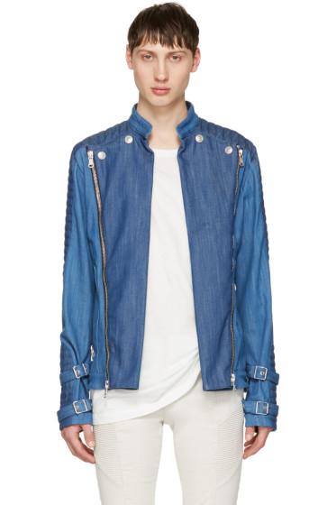 Pierre Balmain - Blue Denim Convertible Jacket