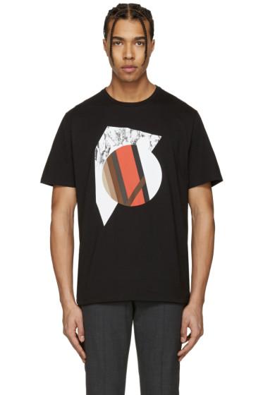 Neil Barrett - Black Marble Modernist T-Shirt