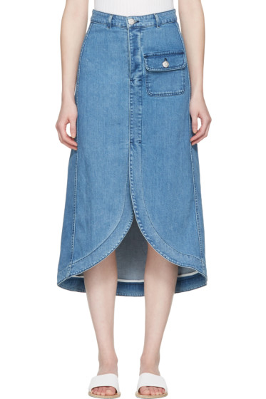 See by Chloé - Indigo Denim Skirt