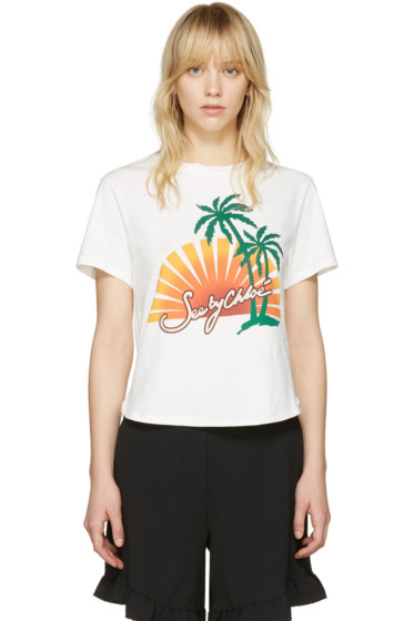 See by Chloé - Off-White Palm Tree T-Shirt