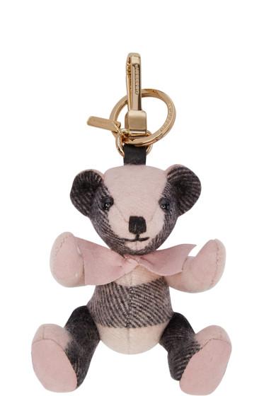 Burberry - Pink Check Thomas Keychain