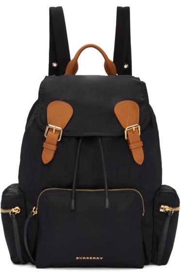 Burberry - Black Nylon Backpack