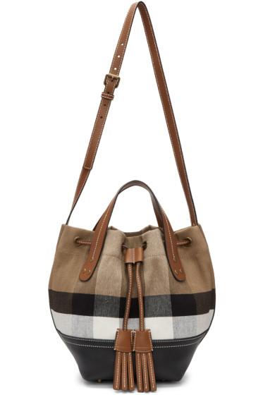 Burberry - Tan Small Heston Bucket Bag