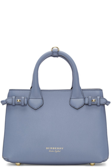 Burberry - Blue Small Banner Tote