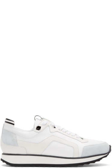 Pierre Hardy - White Track Sneakers