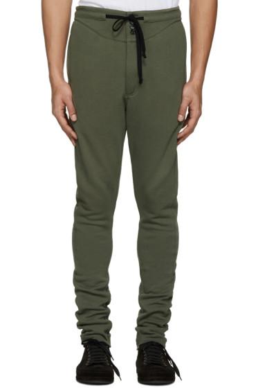 Ann Demeulemeester - Green Button Lounge Pants