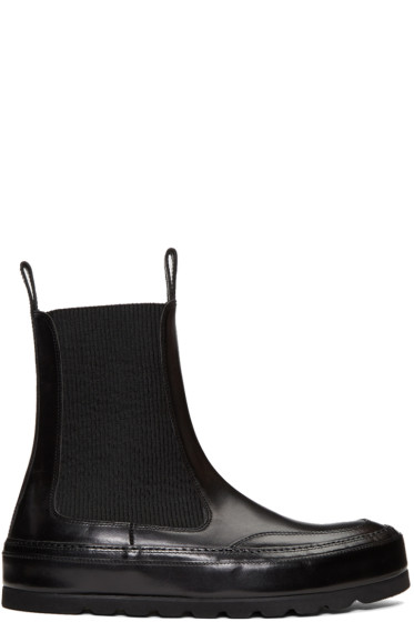Ann Demeulemeester - Black Leather Chelsea Boots