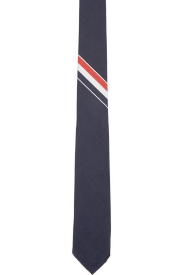 Thom Browne - Navy Classic Striped Tie
