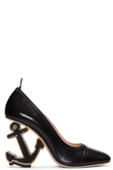 Thom Browne - Black Anchor Icon Heels