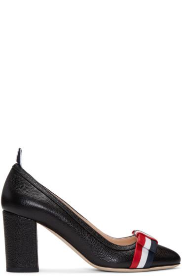 Thom Browne - Black Wholecut Bow Heels