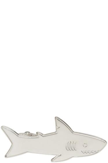 Thom Browne - Silver Shark Tie Bar