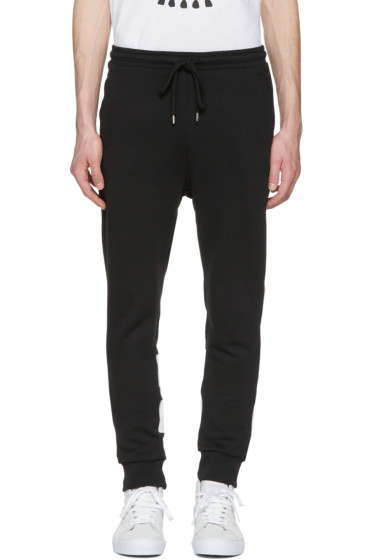 Markus Lupfer - Black Skull & Stripes Lounge Pants