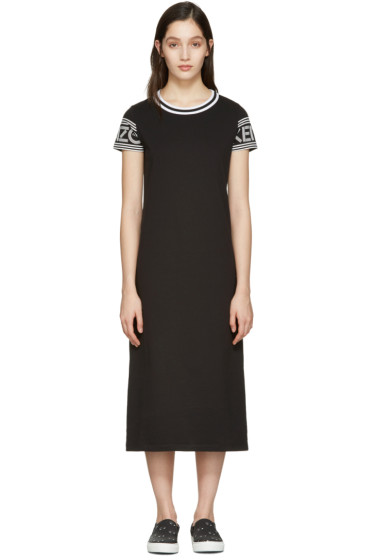 Kenzo - Black Logo T-Shirt Dress