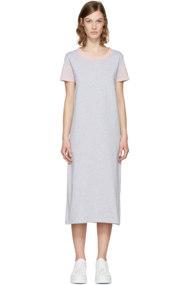 Kenzo - Grey Logo Sleeve Dress