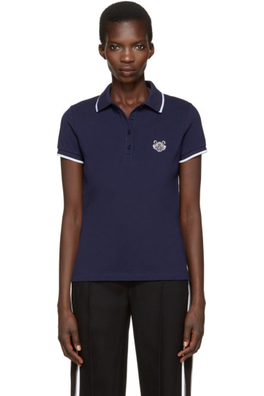 Kenzo - Navy Tiger Patch Polo