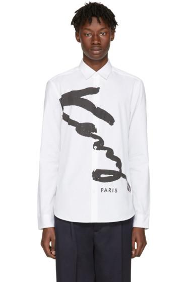 Kenzo - White Signature Logo Shirt