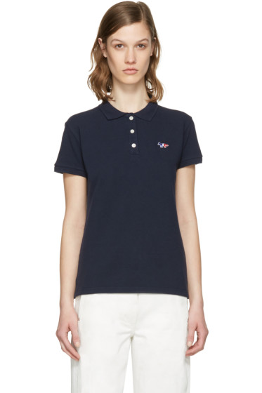 Maison Kitsuné - Navy Fox Patch Polo