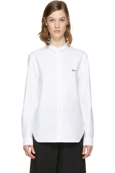 Maison Kitsuné - White Fox Patch Shirt
