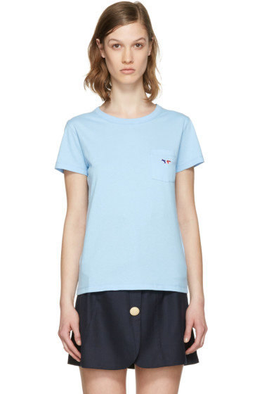 Maison Kitsuné - Blue Fox Patch T-Shirt