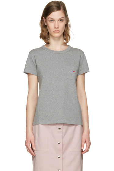 Maison Kitsuné - Grey Fox Patch T-Shirt