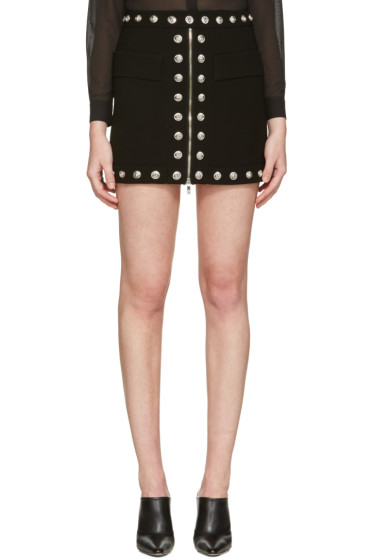 Versus - Black Lion Medallion Miniskirt