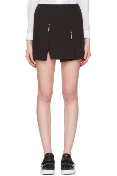 Versus - Black Double Safety Pin Miniskirt