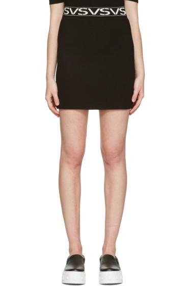 Versus - Black 'VS' Miniskirt