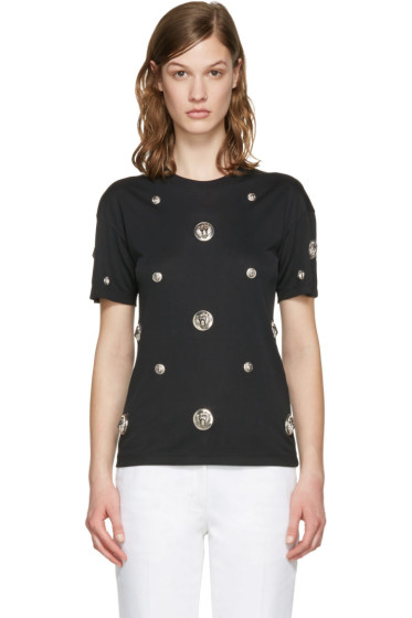 Versus - Black Lion Medallion T-Shirt