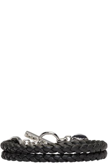 Versus - Black Braided Bracelet