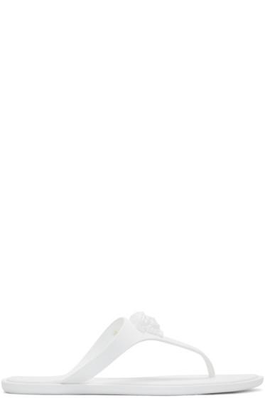 Versace - White Rubber Medusa Sandal